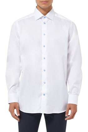 Paisley-Details Twill Shirt