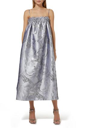 Jacquard Strap Dress