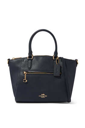 Elise Pebble Leather Satchel