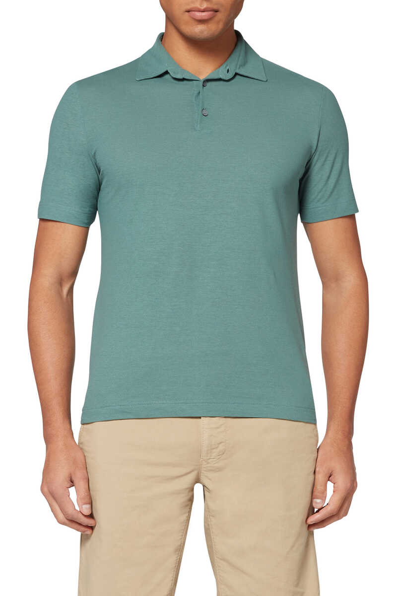 Ice Cotton Polo Shirt image number 1