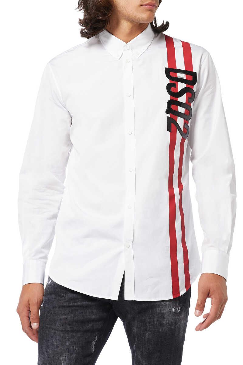 Poplin DSQ2 Sport Stripe Shirt image number 1
