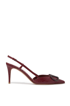 VLogo Signature Slingback Pumps