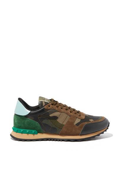 Valentino Garavani Camouflage Rockstud Sneakers