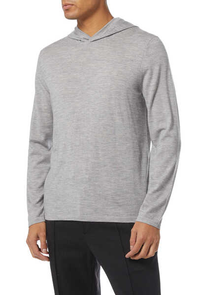 Wool-Cashmere Pullover Hoodie