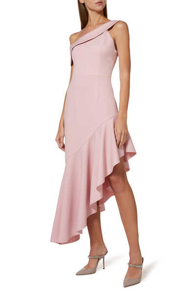Fluid Crepe Dress
