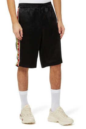 Interlocking G Stripe Acetate Shorts