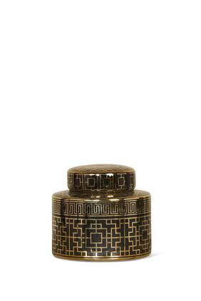 Gold Metallic Lid Jar