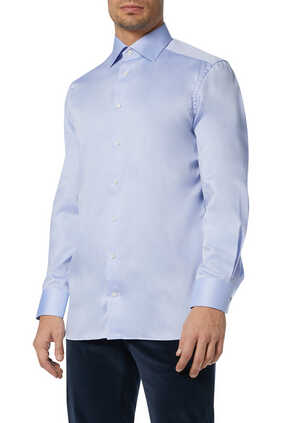 Blue Cotton-Twill Shirt