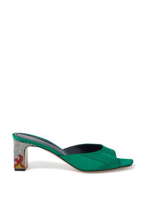 Ade Moire Embellished Mules