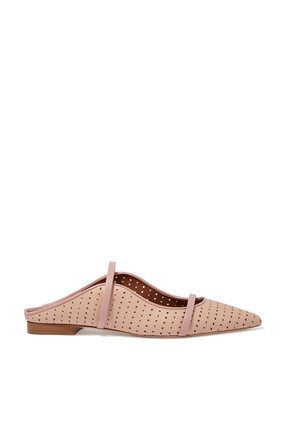 Maureen Perforated Leather Mules
