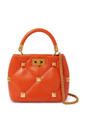 Roman Stud Top Handle Bag