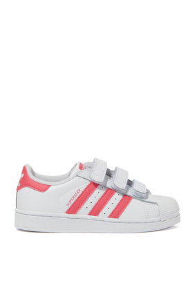 WHITE WITH PINK SUPERSTAR CF C:White :13.5