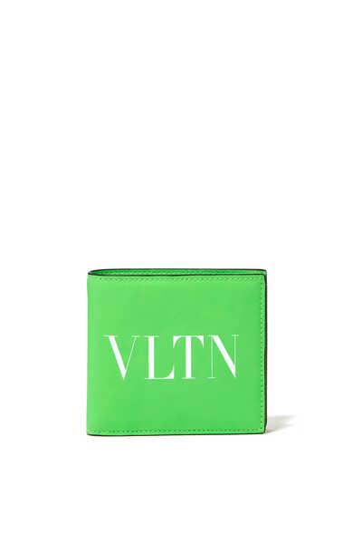 Valentino Garavani  Neon Leather Wallet