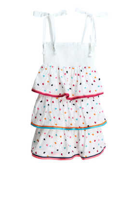 Poppy Shirred Tiered Dress