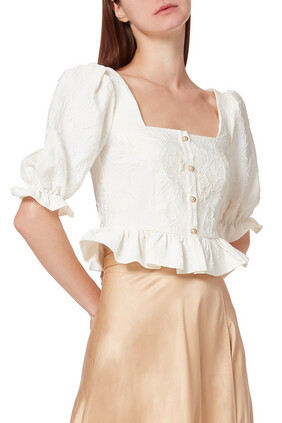 Pearl Embroidered Top