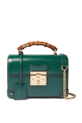 Small Leather Padlock Shoulder Bag