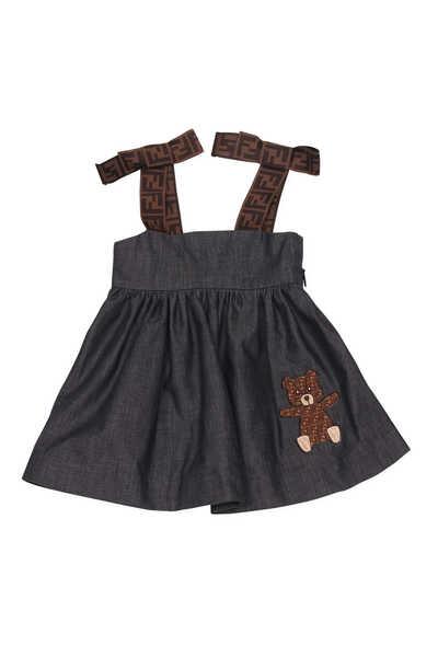Bear Logo Chambre Dress