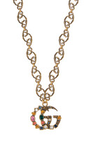 Double G Crystal Necklace