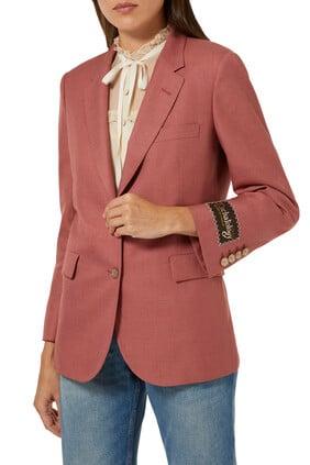 Viscose-Linen Single Breasted Jacket