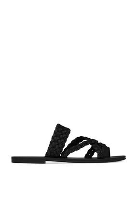 Neil Braided Leather Slides