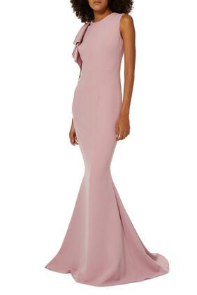 Sleeveless Ruffle Gown
