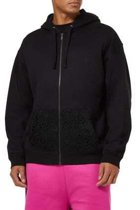 Lace Pocket Hoodie