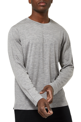 Crewneck Wool Knit T-Shirt