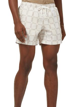 Shadow Check Swim Shorts