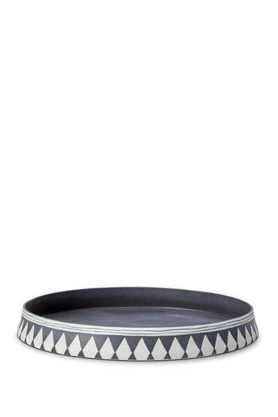 Large Diamond Round Tray
