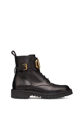 Valentino Garavani V-Logo Combat Boots