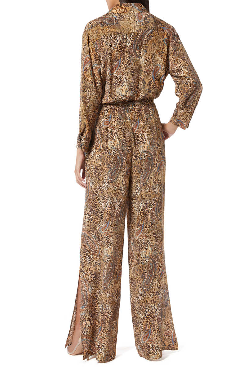 Teddy Leopard and Paisley Print Jumpsuit image number 3