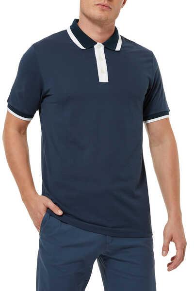 Ringer Rib Piqué Polo Shirt