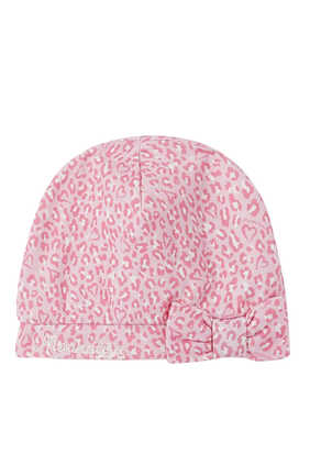 Bow Detail Printed Hat
