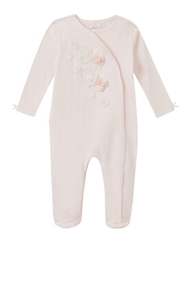 Embroidered Rose Coverall