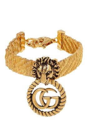 Lion Head Bracelet With Double G