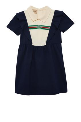 Web Cotton Polo Dress