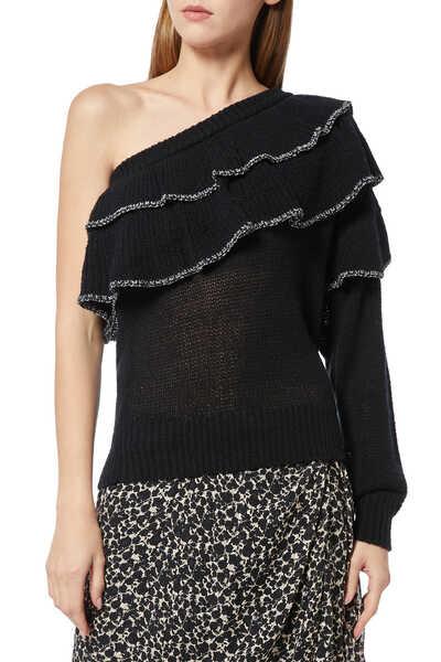 Damero One-Shoulder Sweater