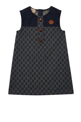 GG Jacquard Denim Dress