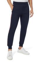 Tri-Colour Tape Cotton-Fleece Jogging Pants