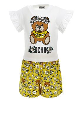 Floral Teddy Bear T-Shirt