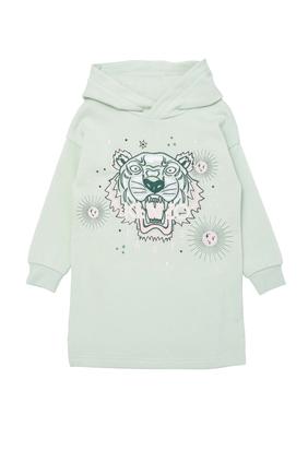 Tiger Hoodie T-Shirt Dress