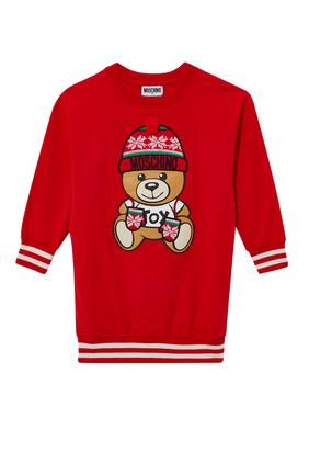 Winter Teddy Bear Fleece Dress