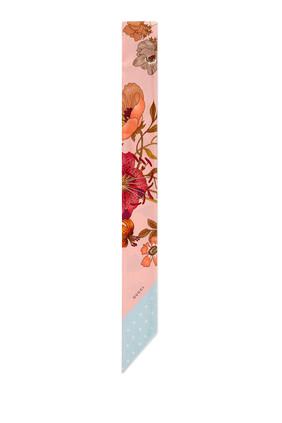 Flora Print Silk Neck Bow