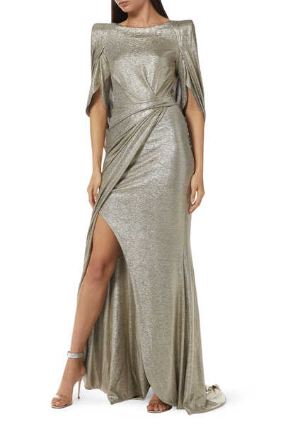 Socrates Metallic Cape Gown