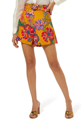 Lovestruck Paisley-Print Shorts