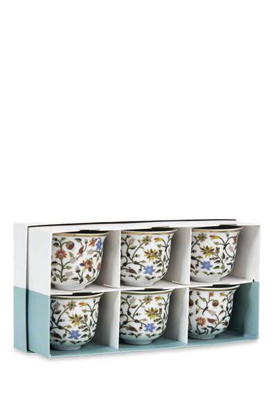 Majestic Arabic Coffee Cups, Set of Six