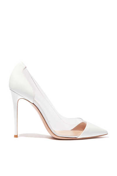 White Plexi Pumps