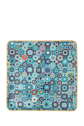 Moucharabieh Blue Large Square Platter