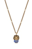 Lion Head Necklace With Crystal