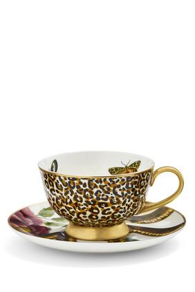 Creatures of Curiosity Leopard/Snake Teacup and Saucer Set